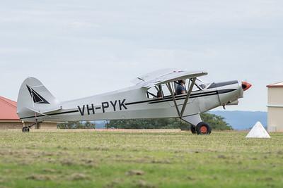 MMPI_20210411_MMPI0078_0020 -  Piper PA-18-150 Super Cub VH-PYK taxiing at Auster Meet April 2021.