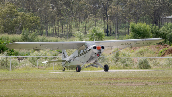 MMPI_20210411_MMPI0078_0075 -  Piper PA-18-150 Super Cub VH-PYK with engine running at Auster Meet April 2021.