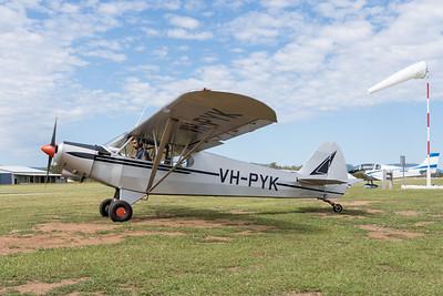 MMPI_20210411_MMPI0078_0073 -  Piper PA-18-150 Super Cub VH-PYK taxiing at Auster Meet April 2021.