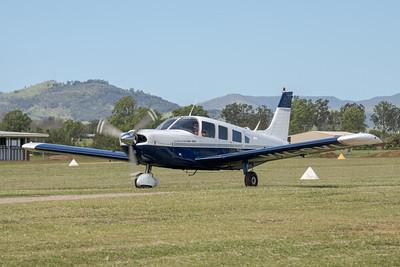 MMPI_20210411_MMPI0078_0098 -  Piper PA-32-300 Cherokee Six VH-SVI taxiing at Auster Meet April 2021.