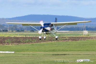 MMPI_20200308_MMPI0065_0065 -  Tecnam P2010 VH-ARQ landing at 2020 Clifton fly-in.