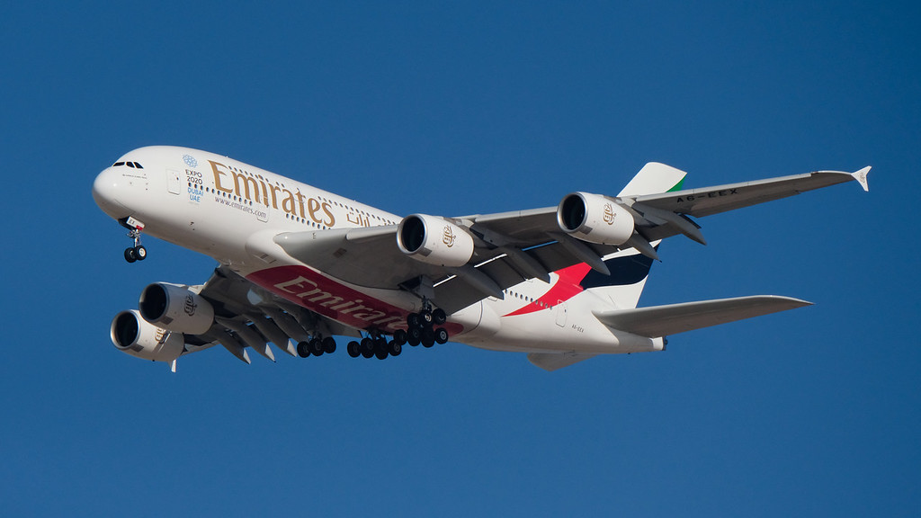 Airbus A380 on short finals