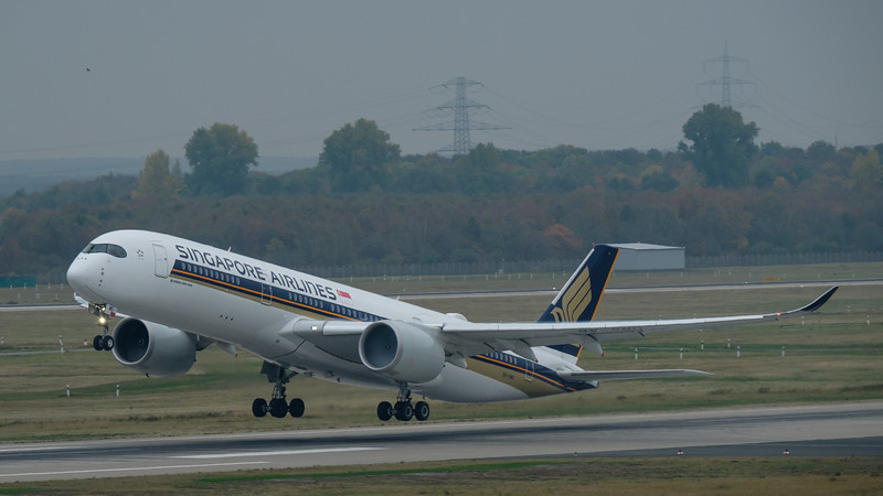 A350-900 taking off
