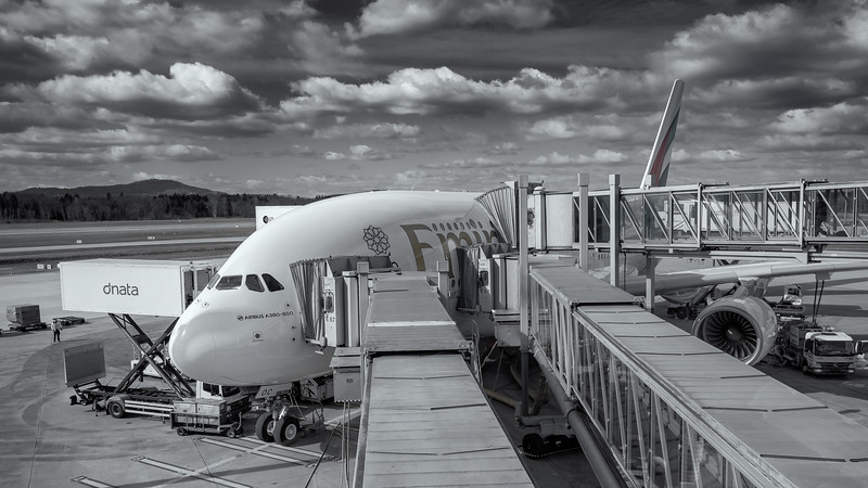 Ready for boarding, A380 Zurich