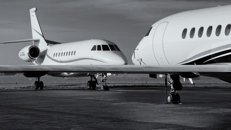 Falcon Business Jet at Kortrijk-Wevelgem, Belgium