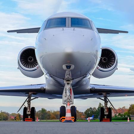 Gulfstream nose section,  at Kortrijk-Wevelgem (EBKT), Belgium