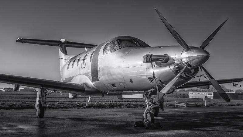 Pilatus PC-12 at Kortrijk-Wevelgem, Belgium