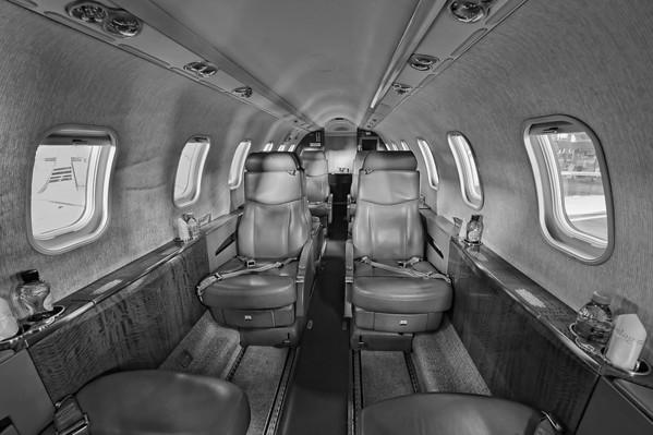 Learjet 45 cabin