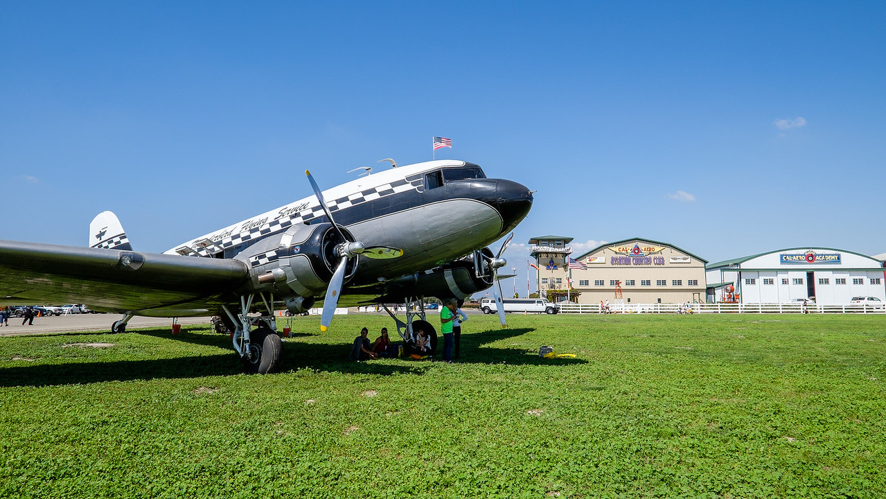 DC-3 at AOPA Regional Fly-in Chino, CA - 21SEP2014