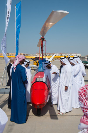 UAE Nationals interested in gyrocopters at Abu Dhabi Aviation Expo 2014
