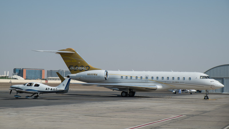 Cirrus and Global Express at Abu Dhabi Aviation Expo 2014