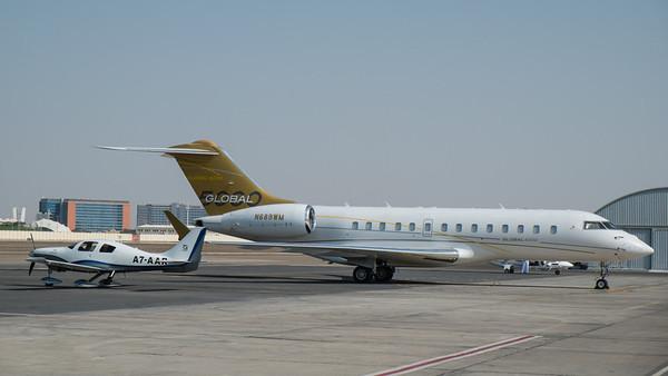 Cirrus and Global Express at Abu Dhabi Aviation Expo 2014