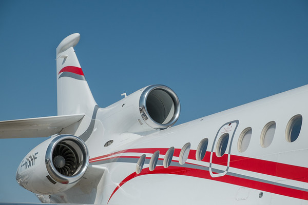 Falcon 7X at Abu Dhabi Aviation Expo 2014