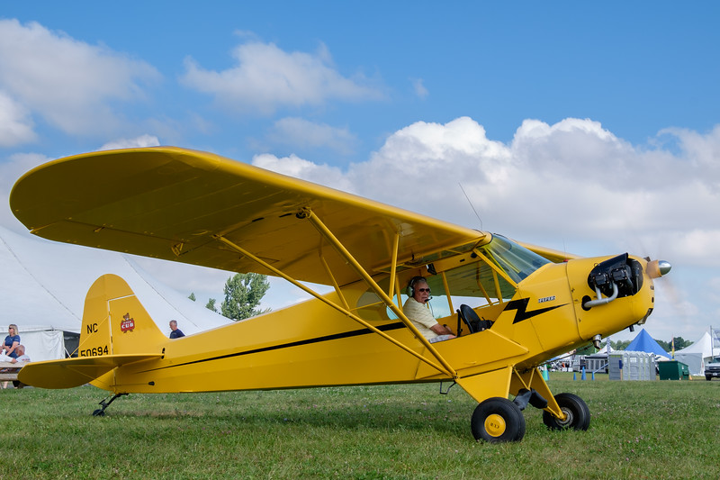 J-3 Piper Cub taxiing out