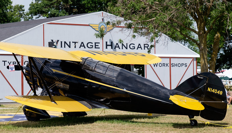 1934 WACO S3HD in front of the Vintage Hangar