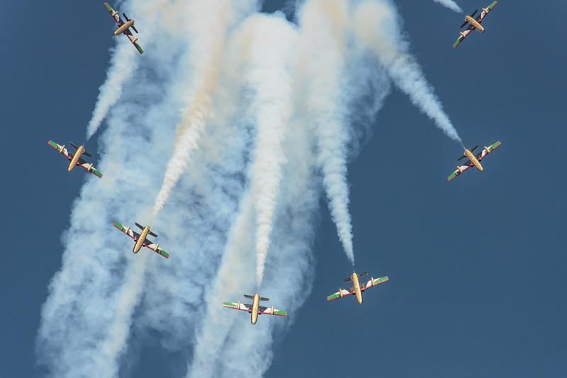 Al Fursan UAE Jet team formation burst