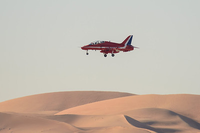 Red Arrow landing at Al Ain
