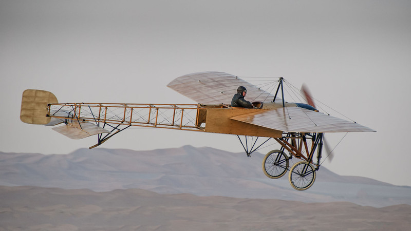 Bleriot XI over the Al Ain dunes
