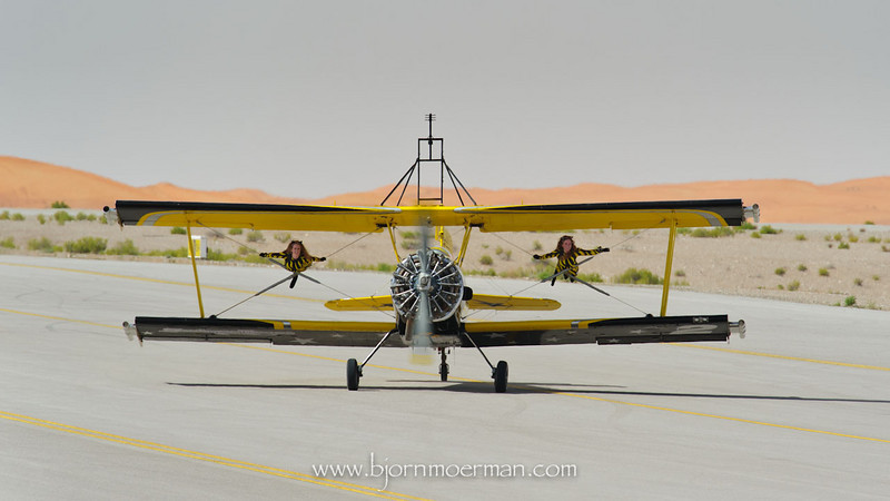 Scandinavian Airshow wingwalkers