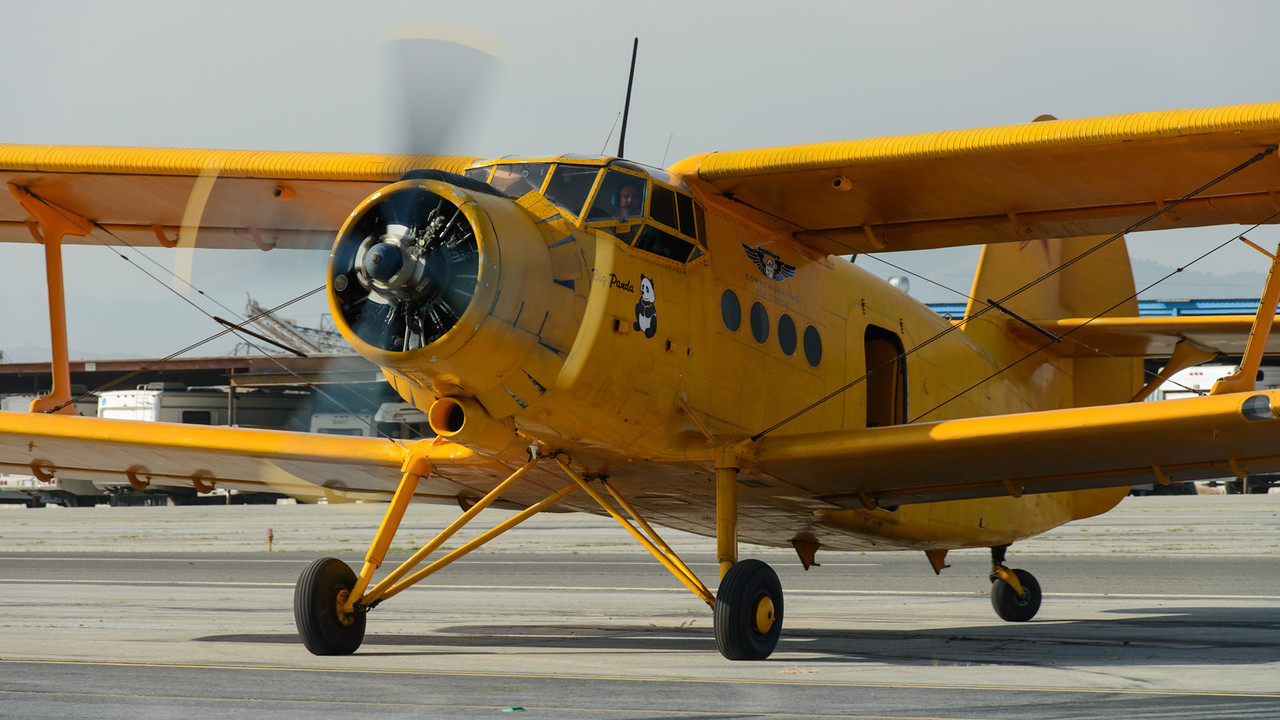 Antonov AN-2 after landing