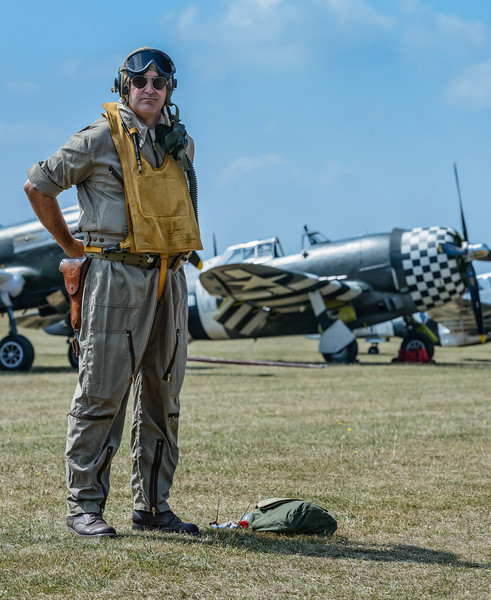 Ready for combat at the Flying Legends airshow, Duxford, UK
