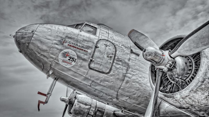 DC-3 Dakota showing her age at La Ferte-Alais airshow