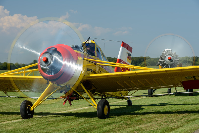 PZL agricultural aircraft starting up at Hahnweide 2013