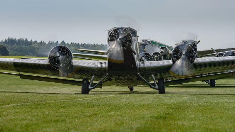 Ready for taxi, JU-AIR JU-52 at Hahnweide 2013