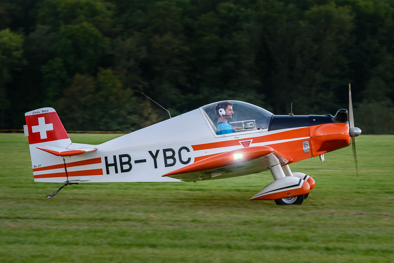 The joy of flying:Brugger MB-2 Colibri taxiing out at Hahnweide 2013