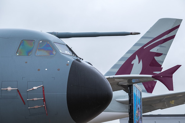 Airbus A400M and A380 tail