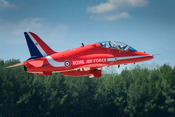 Red Arrow taking off for Duxford, UK