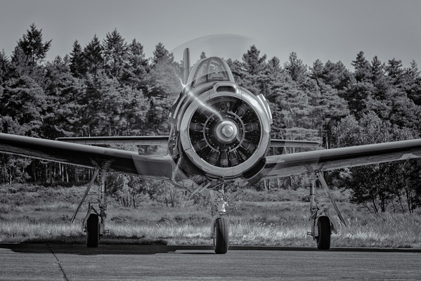 T-28 Trojan starting up at the 2012 Zoersel PhotoFlying days