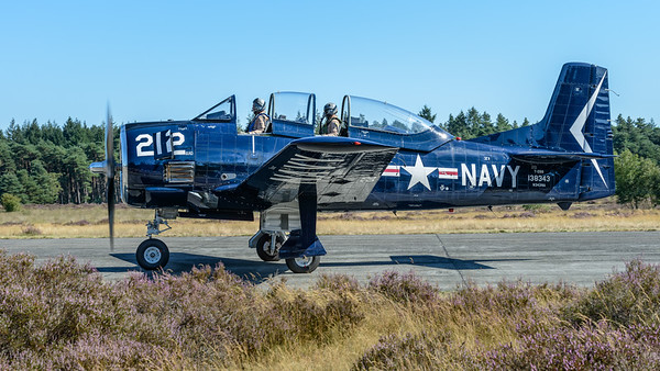 T-28 Trojan taxing out for take-off
