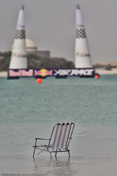 Waiting for the fun to start at the Red Bull Air Race 2010 Abu Dhabi