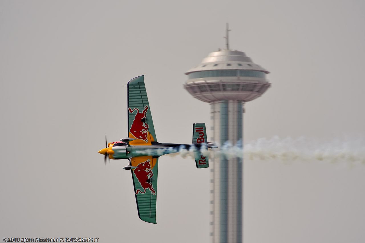 Peter Besenyei at the Red Bull Air Race 2010 Abu Dhabi