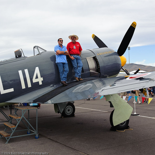 Sea Fury crew on the lookout