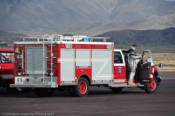 Fireman taking a break