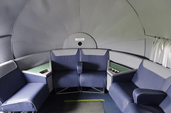 Historical Flight Foundation DC-7B First class lounge