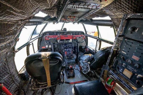 Curtiss C-46 China Doll cockpit at Camarillo, CA, USA