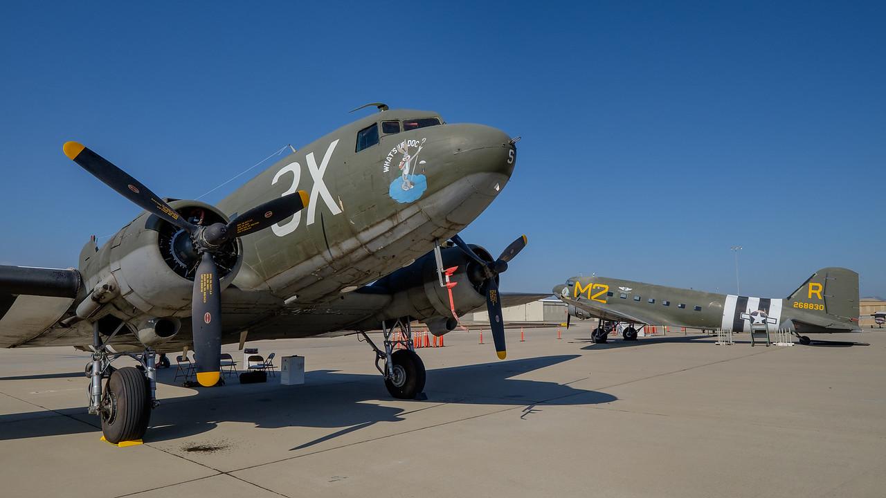 C-47 duo at Camarillo, CA, USA