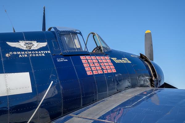 """Grumman F6F-5 Hellcat """"Minsi III"""", at Camarillo, CA, USA"""