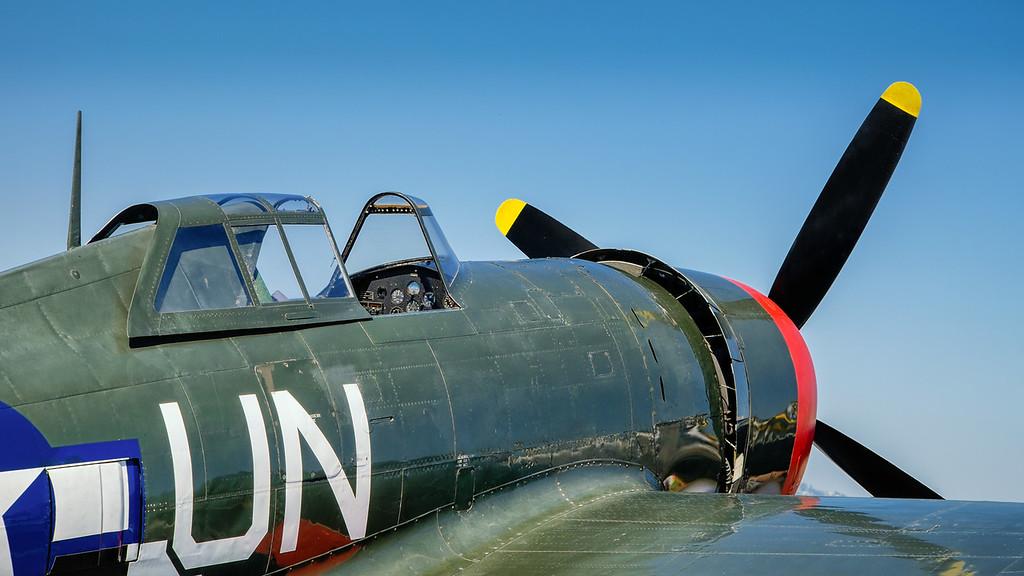 """Republic P-47G-15-CU Thunderbolt """"Spirit of Atlantic City"""" at Camarillo, CA,"""