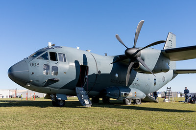 MMPI_20210516_MMPI0082_0182 -  Alenia C-27J Spartan A34-008 of 35SQN RAAF on static display at David Hack Classic 2021 fly-in event.
