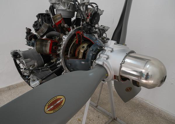 Radial engine on display, Al Mahatta Sharjah, UAE