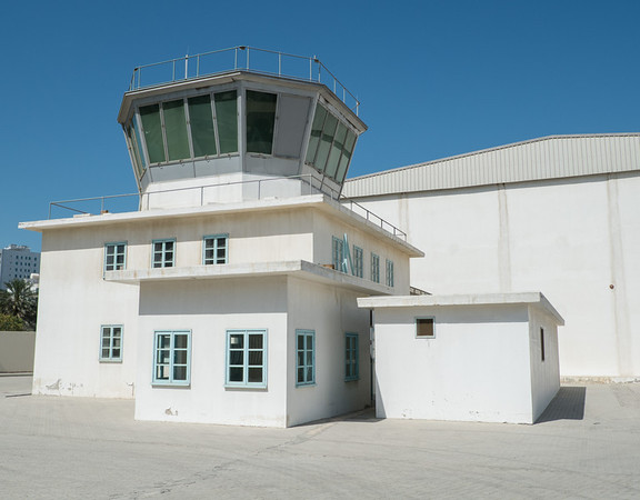 Control tower at Al Mahatta Aviation museum, Sharjah