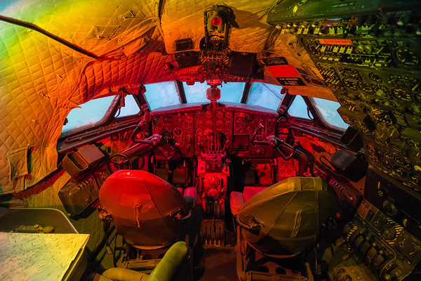 De Havilland Comet cockpit at Al Mahatta Aviation museum