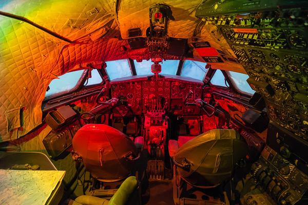 De Havilland Comet cockpit at Al Mahatta Aviation museum