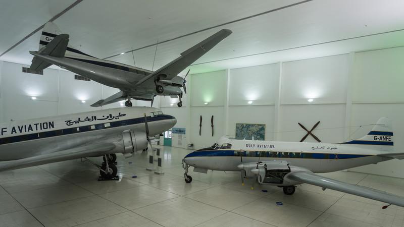 De Havilland Heron, Dove and DC-3 at Al Mahatta Aviation museum
