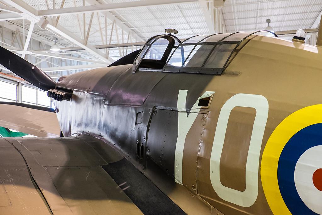 Hurricane replica at Canadian Warplane museum