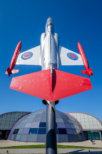 Cf-104 at Canadian Warplane Heritage museum entrance